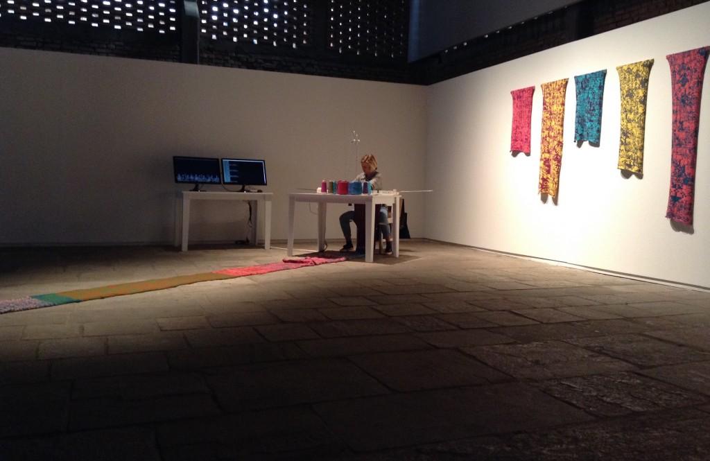 Oiko-nomic Threads @ 19th Contemporary Art Festival Sesc_Videobrasil, São Paulo, BR 2015 (c) Marinos Koutsomichalis.